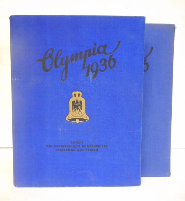Cigaretten-Bilderdienst (Hg.) Die Olympischen Spiele 1936 in Berlin und Garmisch-Partenkirchen. 2 Bände. Mit zahlr. eingeklebten Abb.