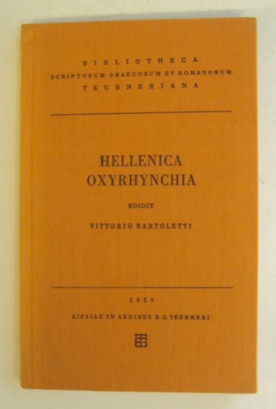 | Hellenica Oxyrhynchia. Edidit Vittorio Bartoletti.