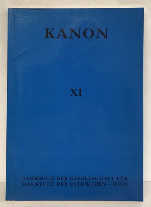 | Kanon. Jahrbuch der Gesellschaft für das Recht der Ostkirchen. Bde. XI.