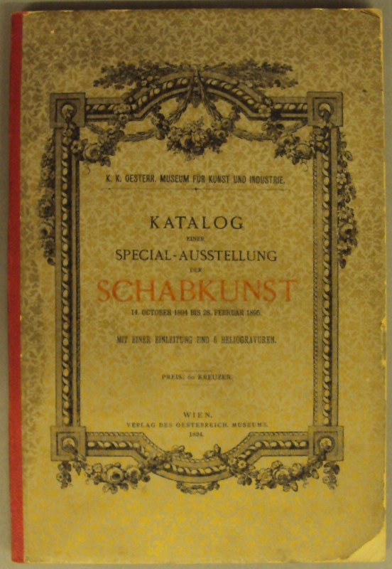 | Katalog einer Special-Ausstellung der Schabkunst 14. October 1894 bis 28. Februar 1895. Mit einer Einleitung u. 6 Heliogravuren