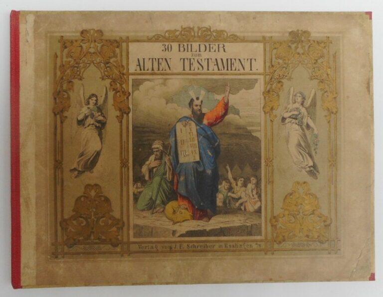   30 Biblische Bilder zum Alten Testament / 30 Biblische Bilder zum Neuen Testament. Farblithographien v. Burkhard Hummel