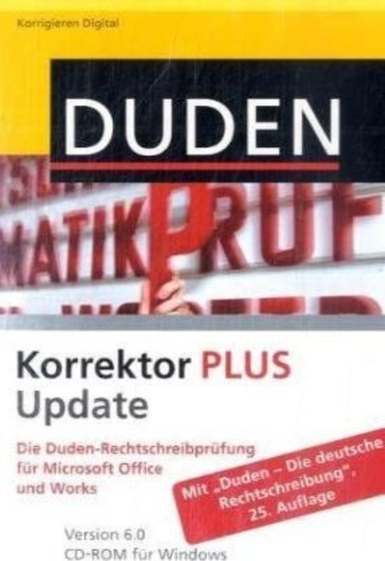 | Duden Korrektor PLUS. Die Duden-Rechtschreibprüfung für Microsoft Office und Works. Version 6.0