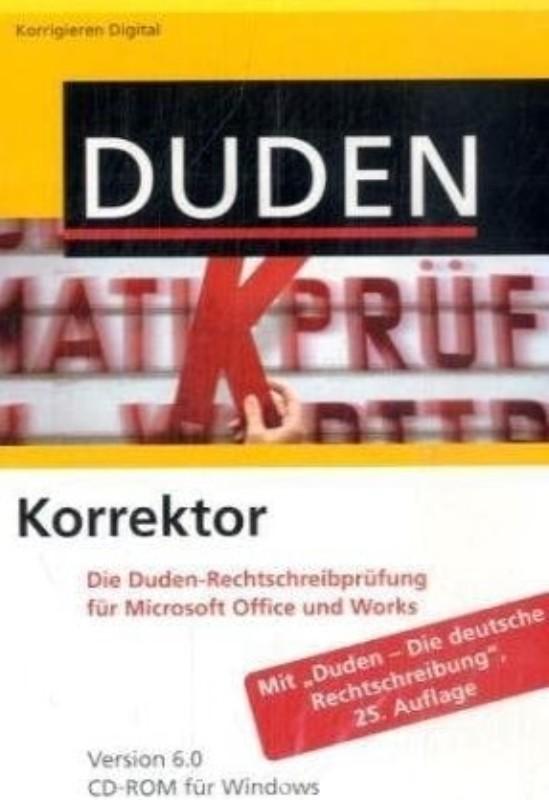| Duden Korrektor. Die Duden-Rechtschreibprüfung für Microsoft Office und Works. Version 6.0