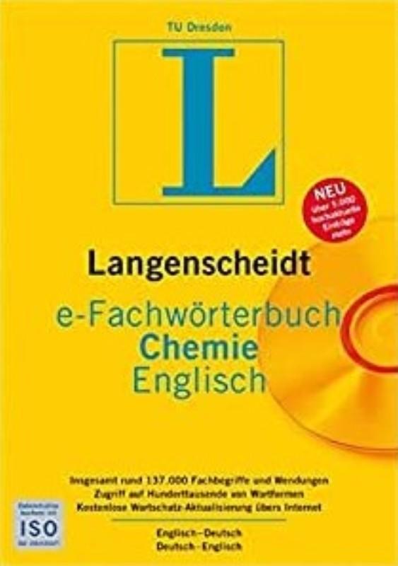 | e-Fachwörterbuch Chemie Englisch. Englisch-Deutsch / Deutsch-Englisch