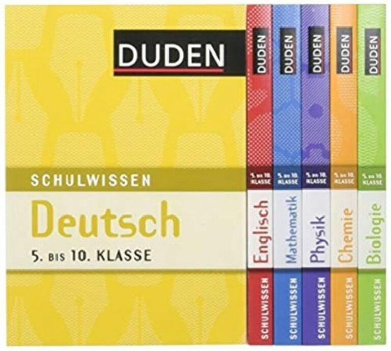 | Duden Schulwissen Deutsch - Englisch - Mathematik - Physik - Chemie - Biologie 5.-10. Klasse. 6 Bde. im Schuber