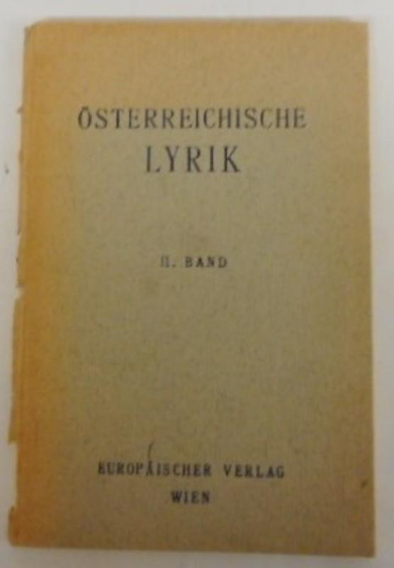| Österreichische Lyrik Bd. 2