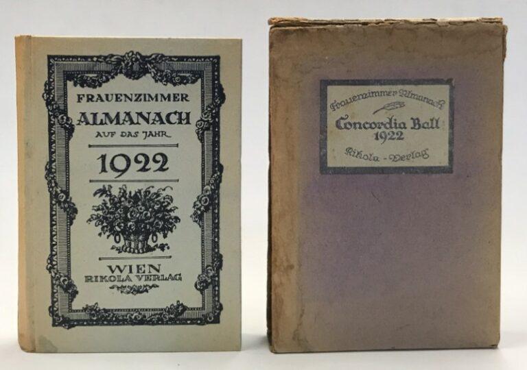 | Frauenzimmer. Almanach auf das Jahr 1922.