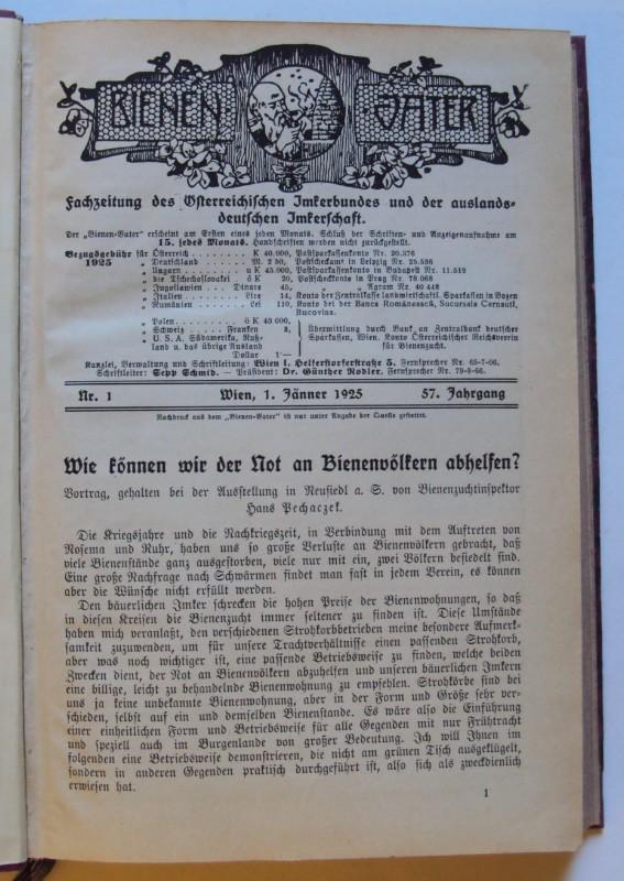 | Bienen-Vater. Fachzeitung des Österreichischen Imkerbundes und der auslandsdeutschen Imkerschaft. 57. Jg.