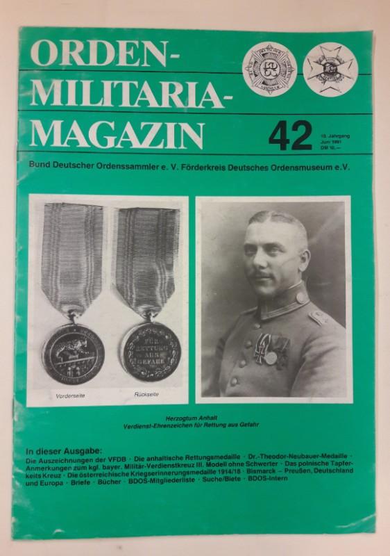 Bund deutscher Ordenssammler e.V. (Hg.) Orden-Militaria-Magazin 42. Mit s/w Abb.