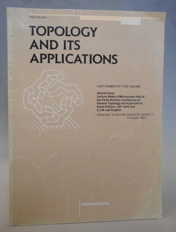 Lecture Notes Topology and its Applications. Vol. 58