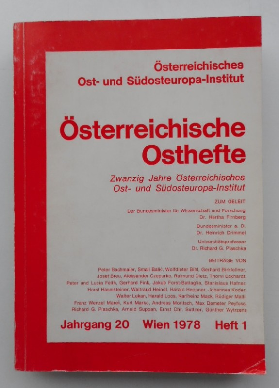 Österr. Ost- und Südosteuropa-Institut (Hg.) Österreichische Osthefte. Jg. 20