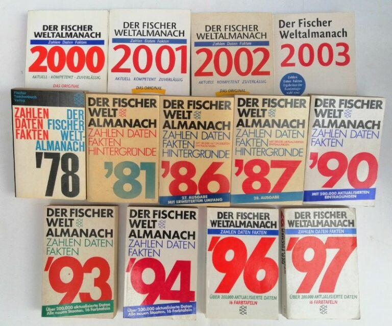 | Der Fischer Weltalmanach. Zahlen - Daten - Fakten - Hintergründe.