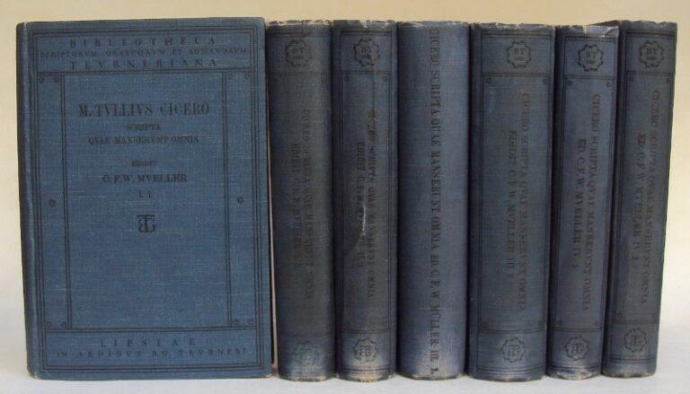Cicero M. Tulli Ciceronis Scripta que Manserunt Omnia. Pars I: Opera Rhetorica