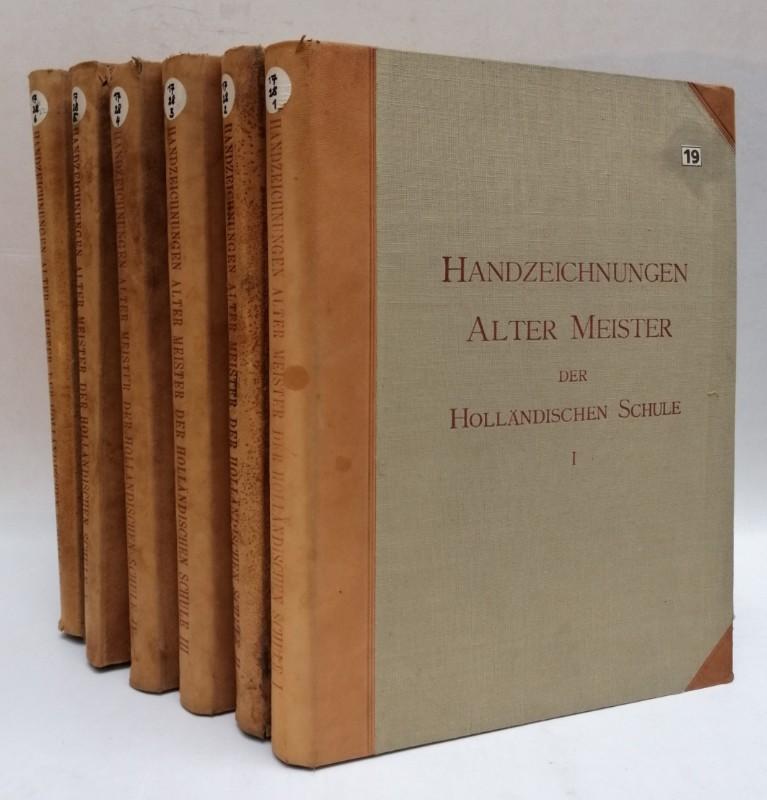 | Handzeichnungen Alter Meister der Holländischen Malerschule. 384 Handzeichnungen vonn sechzig verschiedenen Meistern in sechs Serien zu je 64 Blatt im Format 40:30 cm.