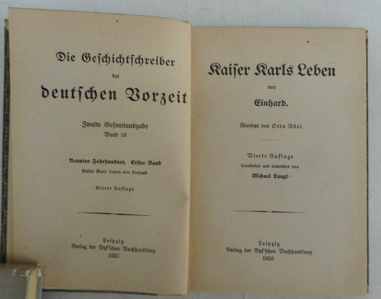 Einhard Kaiser Karls Leben. Übersetzt von Otto Abel