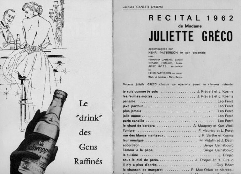 | Juliette Gréco -Programmheft