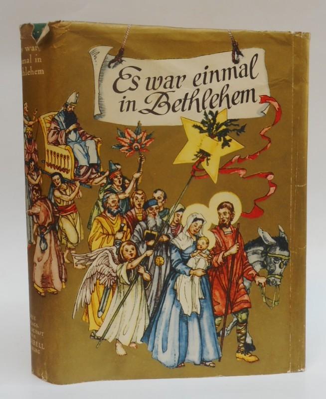 | Es war einmal in Bethlehem. Eine Kinderbibel. Dem Neuen Testament nacherzählt für große und kleine Kinder von Susanna von Baibus. Mit 122 zumeist buntfarbigen Bildern und Vignetten von Gudrun Keussen