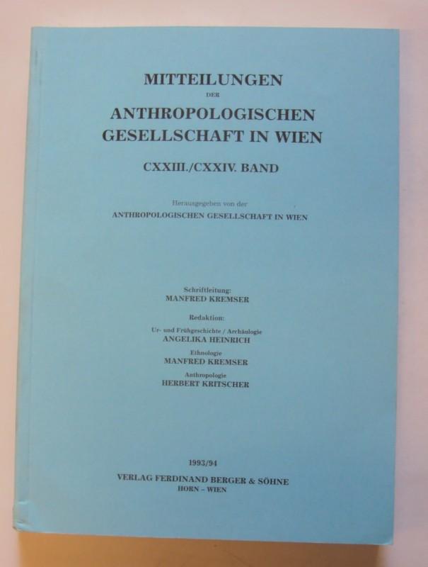 Anthropologische Gessellschaft in Wien (Hg.) Mitteilungen der Anthropologischen Gesellschaft in Wien