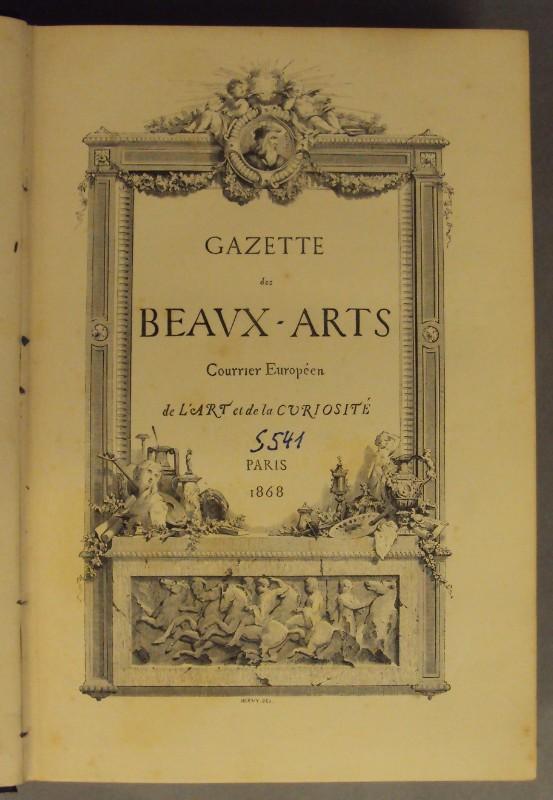   Gazette des Beaux-Arts. Courrier Européen de L'Art et de la Curiosité. Mit Textholzschnitten