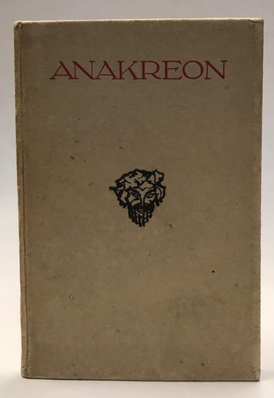 | Anakreon. Auswahl nach Mörike. Bildschmuck von Otto Friedrich.