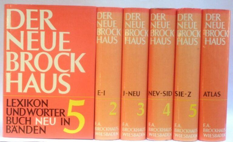 | Der Neue Brockhaus. Lexikon und Wörterbuch in fünf Bänden mit Atlas.