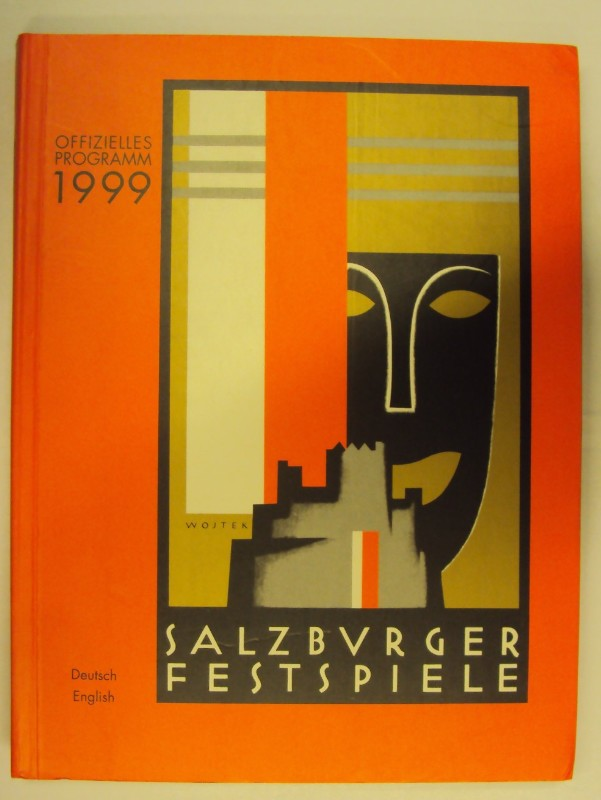 o.A. Salzburger Festspiele. Offizielles Programm 1999. Deutsch. English.