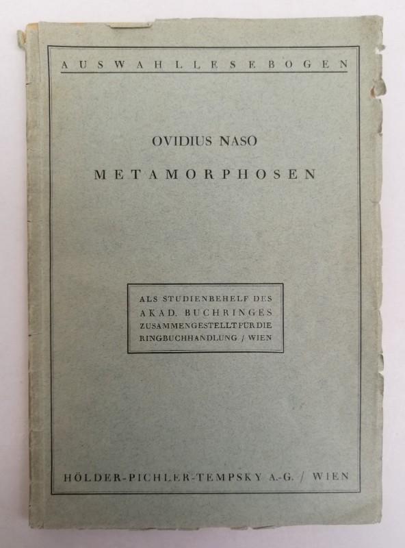 Ovid Metamorphosen (Metamorfozy).