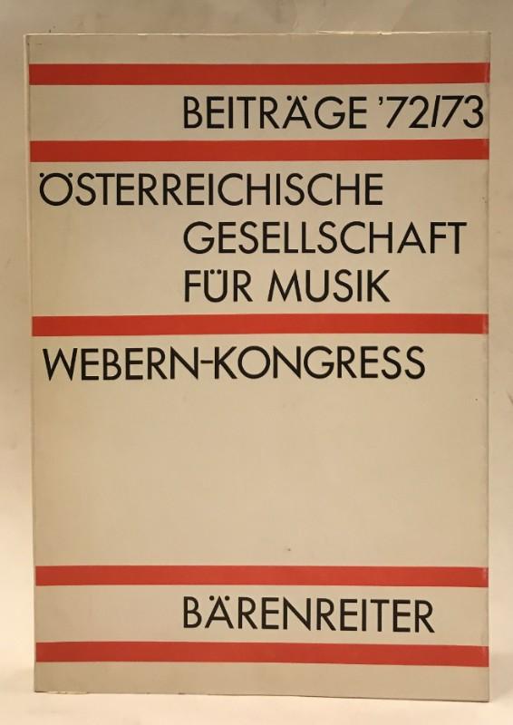 Österreichische Gesellschaft für Musik. Beiträge 1972/73.