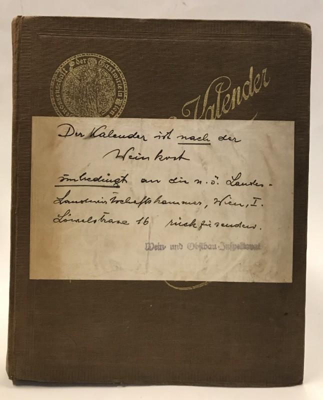 Jahrbuch und Mitgliederstand der Genossenschaft der Gastwirte in Wien mit Schluß des Jahres 1928